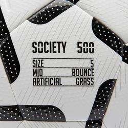 Balón de Fútbol 5 Society 500 talla 5 Blanco / Negro