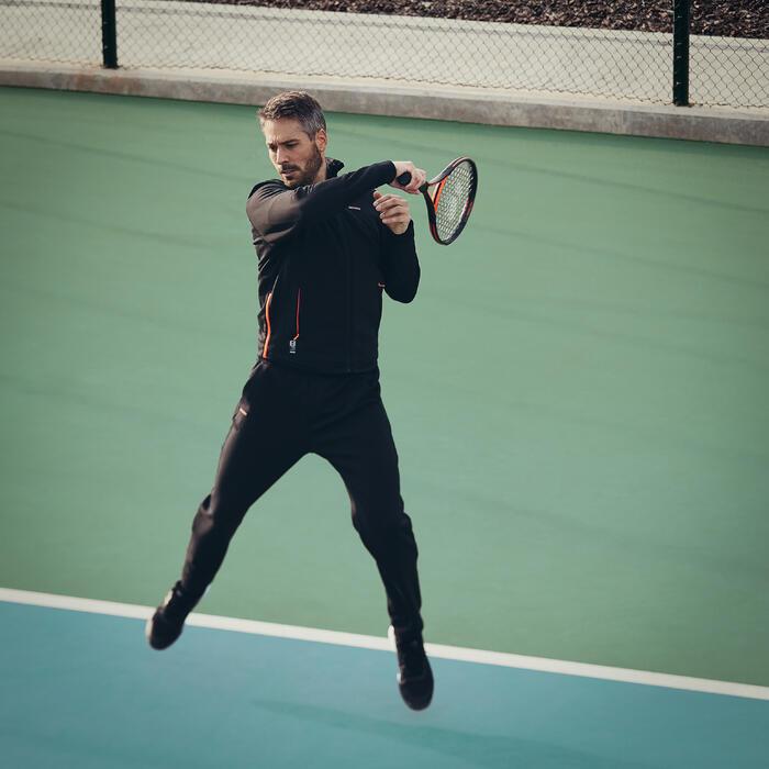 Tennis Trainingsjacke TJA 900 Herren schwarz