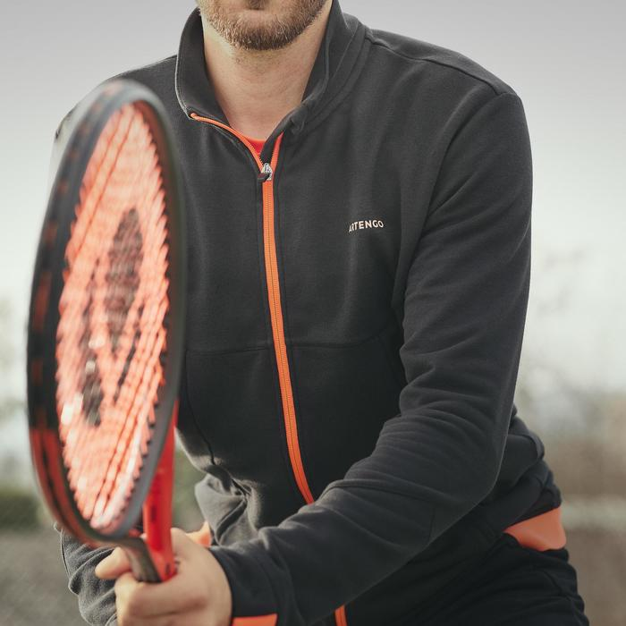 TJA500 Thermal Tennis Jacket - Black/Orange