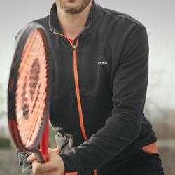 VESTE DE TENNIS TJA500 TH NOIR ORANGE