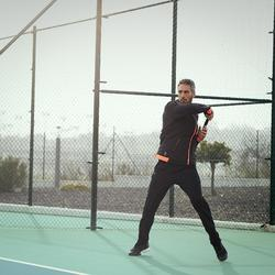 TJA500 Thermal Tennis Jacket - Black/Orange