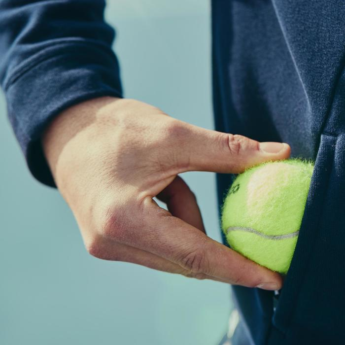 TJA500 Thermal Tennis Jacket - Navy/White