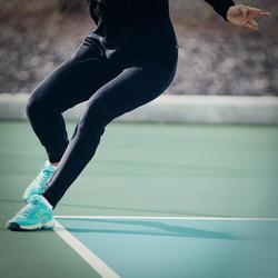 女款網球長褲PA Dry 900-黑色