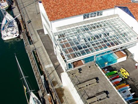 Le centre de conception Tribord, à ciel ouvert.