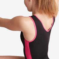 500 Women's Artistic Gymnastics Sleeveless Leotard - Black/Pink