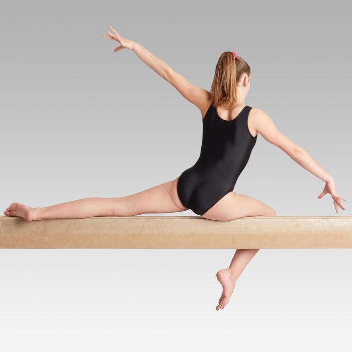 Justaucorps sans manche de Gymnastique Artistique Féminine noir sequins