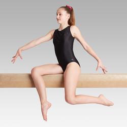 Justaucorps sans manche noir 120 Gymnastique Artistique Féminine