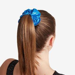 Chouchou bleu de gymnastique artistique féminine