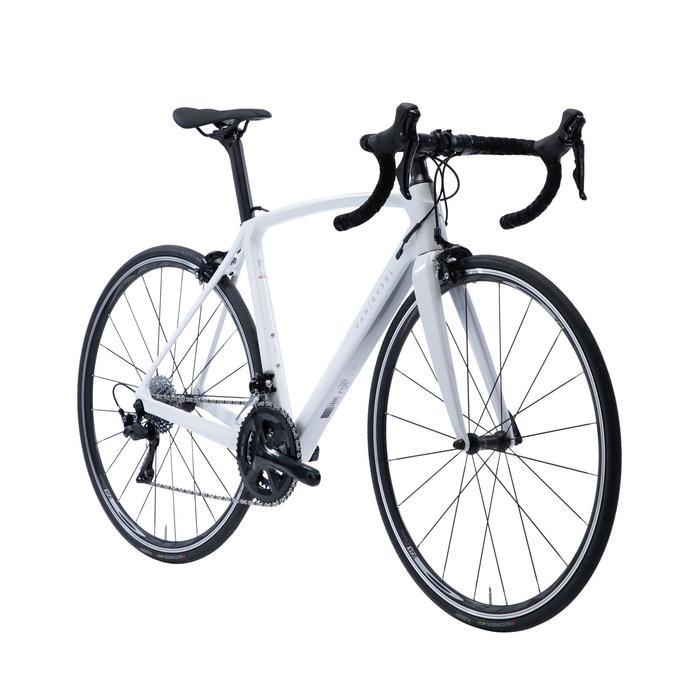Vélo Route Femme cyclosport Cadre Carbone blanc