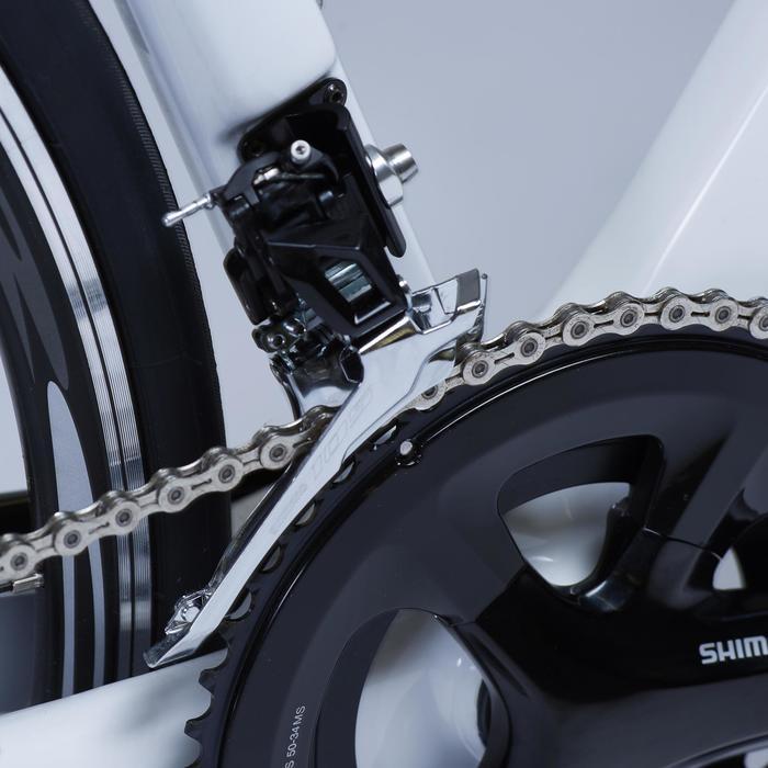 Racefiets voor dames Ultra RCR CF 105 wit