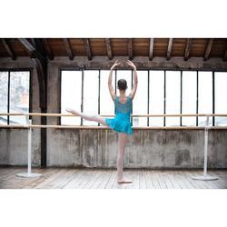 Justaucorps de danse classique bi-matière fille bleu