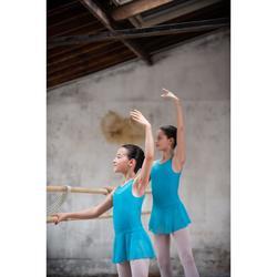 Balletpakje in twee stoffen voor meisjes blauw