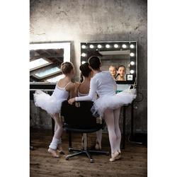 Beenwarmers voor ballet en moderne dans meisjes wit