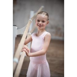 Justaucorps danse classique rose manches courtes fille