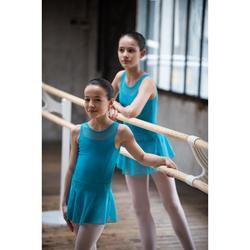 Balletrokje in voile voor meisjes turquoise