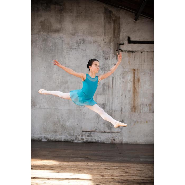 Tanzbody Ballett Bi-Material Mädchen blau