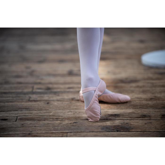 Zapatillas de Ballet Domyos Niña y Mujer Suela Entera Piel Rosa