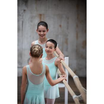 Balletrokje in voile voor meisjes zachtgroen