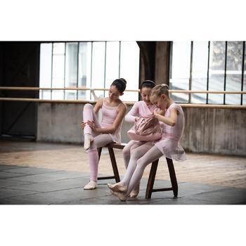 Justaucorps manches courtes de danse classique fille rose