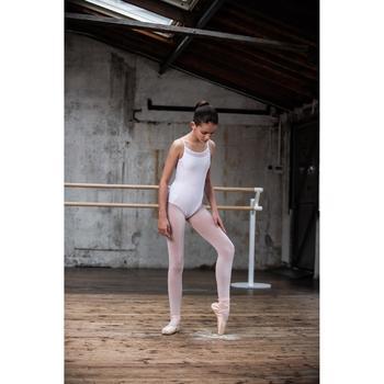 Balletpakje met smalle bandjes voor meisjes wit