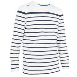 T-shirt LM zeilen Aventure 100 heren gestreept wit