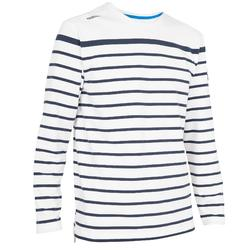 T-shirt M.L. Voile aventure 100 Homme RAYE Blanc