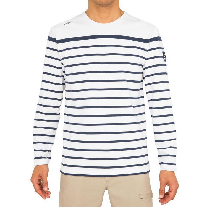 Camiseta MLVela de aventura 100 hombre RAYAS blanco