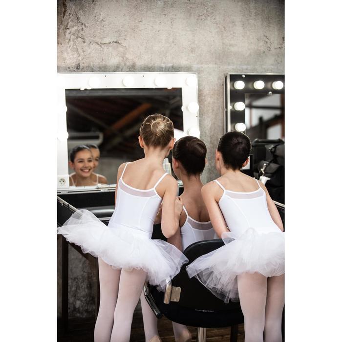 Justaucorps danse classique blanc à bretelles fille