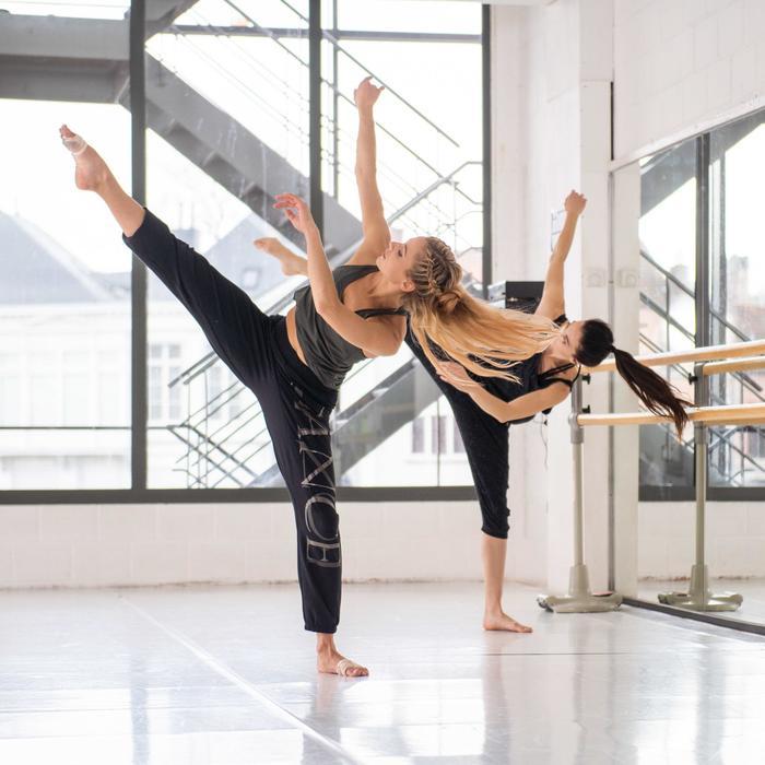 Pantalon fluide et modulable danse modern-jazz femme noir