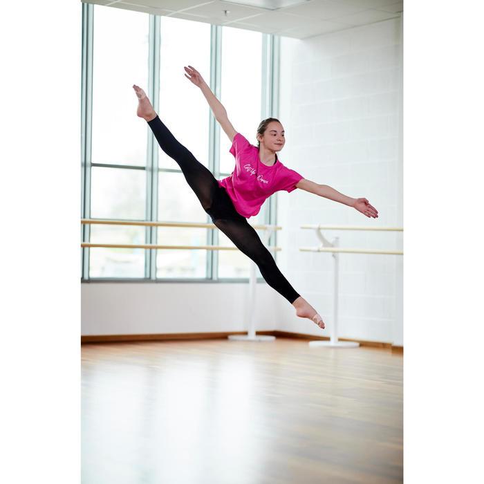 Tee-shirt de danse moderne fille bleu rose