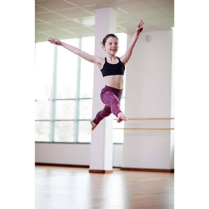 Brassière de danse moderne fille à bretelles croisées noire
