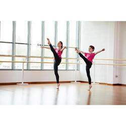 Leggings de danza moderna niña negro sin costuras