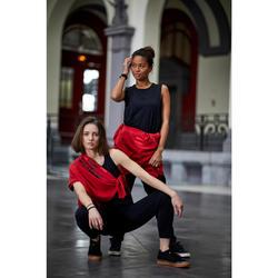 Mouwloos shirt voor streetdance dames zwart uiterst ademend