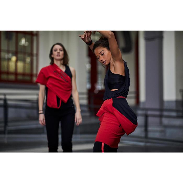 Broek voor streetdance dames zwart met streep