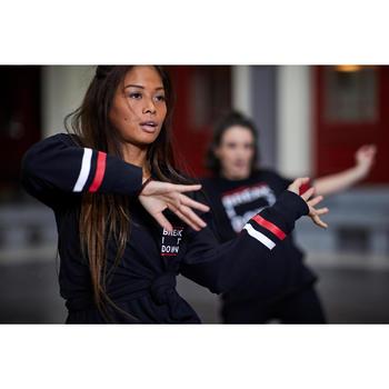 Sweat-shirt noir de danses urbaines femme