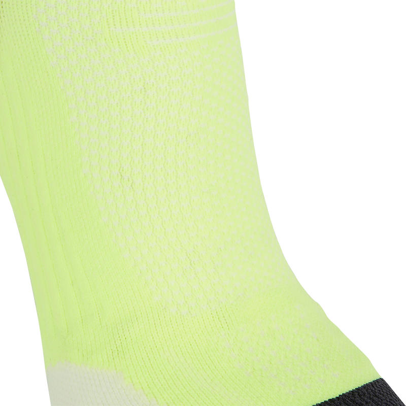 RUNNING MID-HEIGHT FINE SOCKS KIPRUN - YELLOW