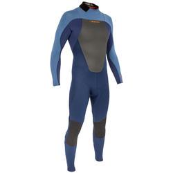 Heren surfpak 500 neopreen 3/2 mm blauw - 166608