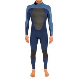 Heren surfpak 500 neopreen 3/2 mm blauw - 166609