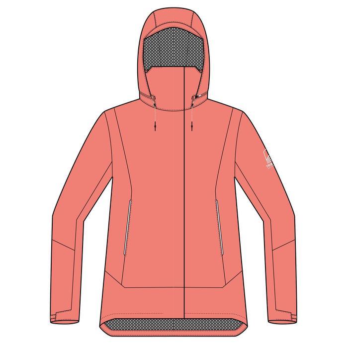 女款防水行海外套SAILING 300-粉紅色