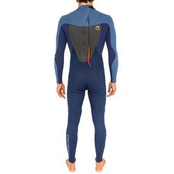 Heren surfpak 500 neopreen 3/2 mm blauw - 166611