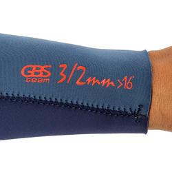 Heren surfpak 500 neopreen 3/2 mm blauw - 166617