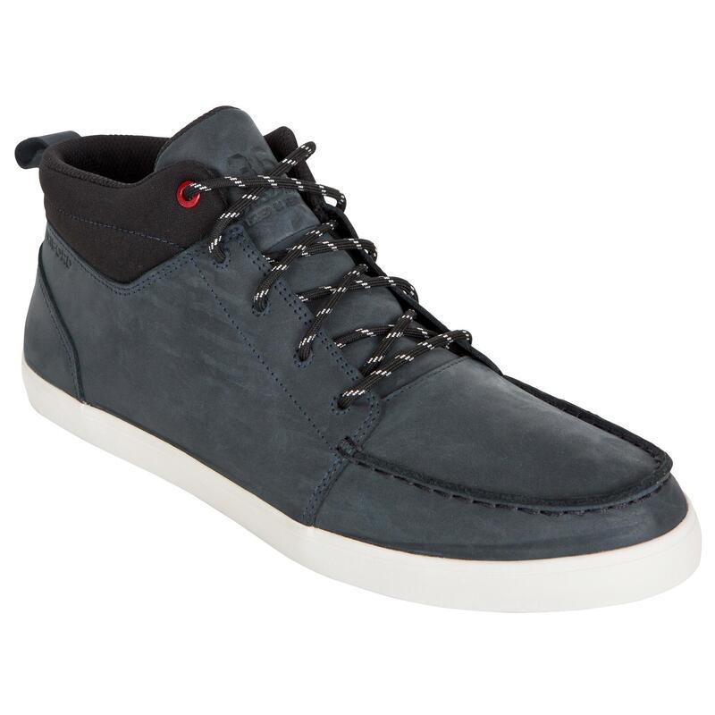 Zapatos náuticos de cuero impermeables para hombre KOSTALDE RAIN Azul