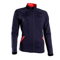 女款網球外套JK TH 500-軍藍色