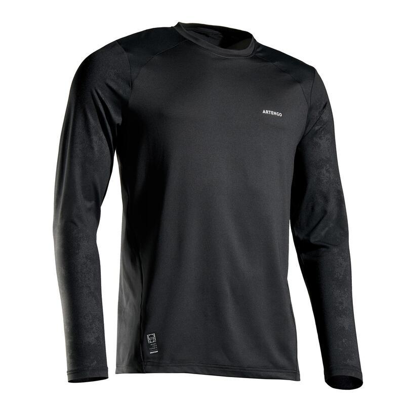 Tee shirt de tennis homme TTS 500 Thermic Noir