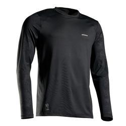防寒快乾長袖T恤 - 黑色