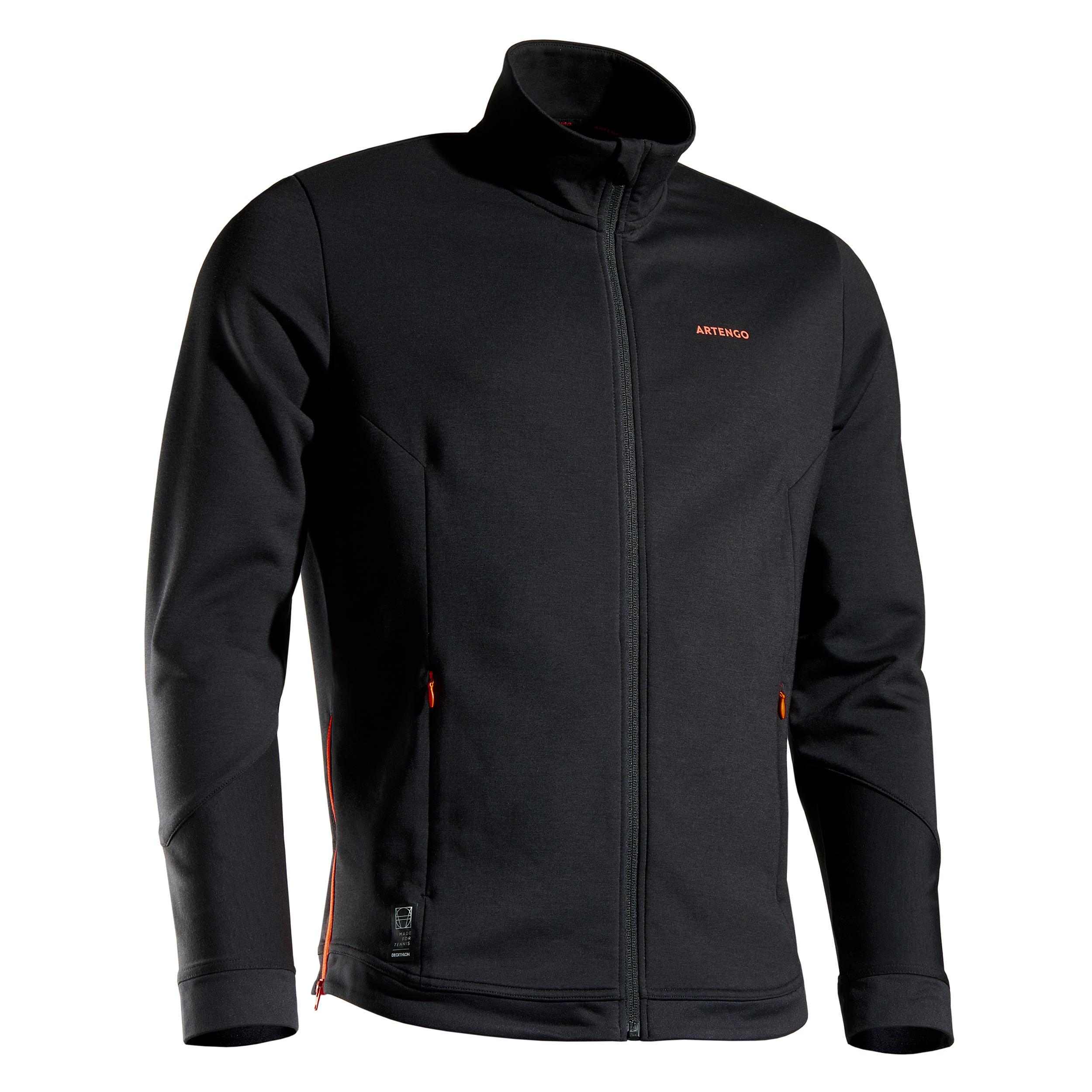 Tennis Trainingsjacke TJA 900 Herren schwarz | Sportbekleidung > Sportjacken > Trainingsjacken | Artengo