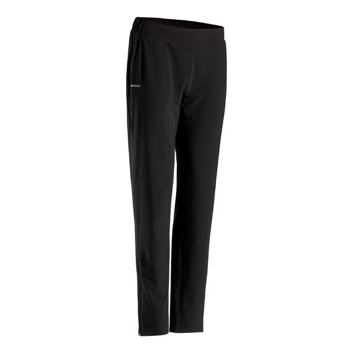 女款網球長褲PA Dry 500-黑色