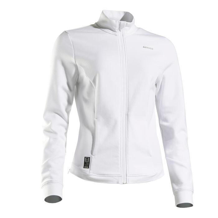 女款網球外套JK Dry 900-白色