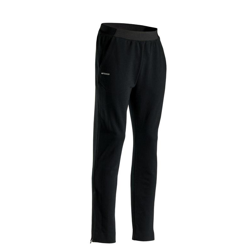 Pantalon Călduros Tenis TPA500 Negru Bărbați