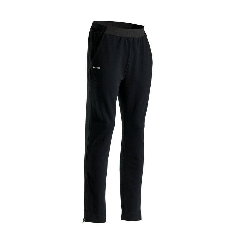 保暖網球長褲TPA500 - 黑色